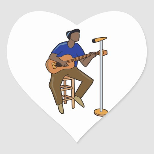 guitar player sitting abstract mic drk.png sticker