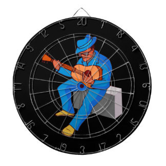 guitar player sitting on amp blues blue.png dart boards