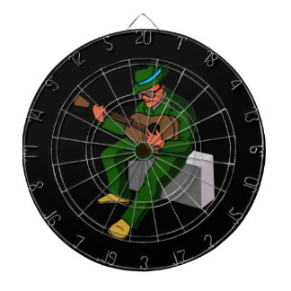 guitar player sitting on amp blues green.png dartboard