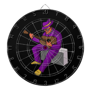 guitar player sitting on amp blues purple.png dartboard with darts