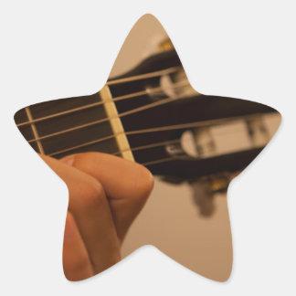 guitar player star sticker