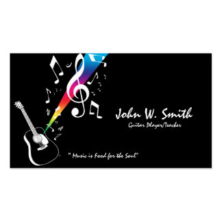 Guitar Player/Teacher Business Card
