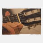 guitar player towel