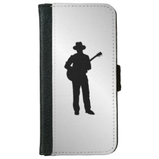 Guitar Player Wallet Phone Case For iPhone 6/6s