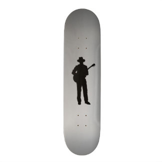 Guitar Player with Hat Personal Skateboard