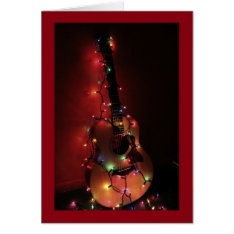 Guitar Player's Christmas Card at Zazzle