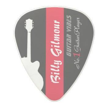 Guitar Player's Create Your Own Polycarbonate Guitar Pick by mixedworld at Zazzle