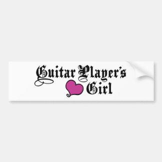 Guitar Player's Girl Bumper Sticker