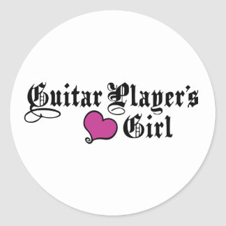 Guitar Player's Girl Stickers