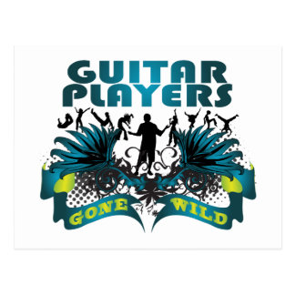 Guitar Players Gone Wild Postcard