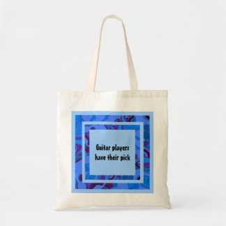 Guitar players have their pick tote bag