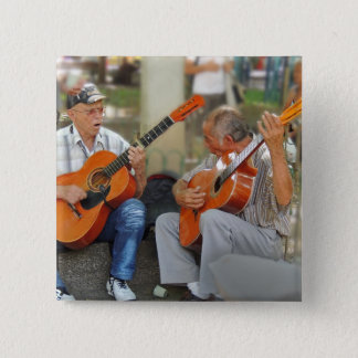 Guitar Players in Parque Bolivar Pinback Button