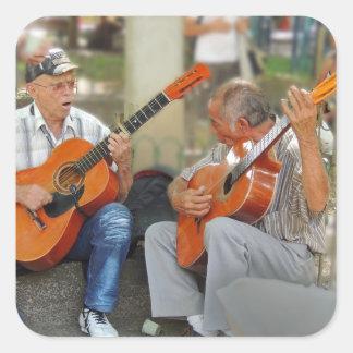 Guitar Players in Parque Bolivar Square Sticker