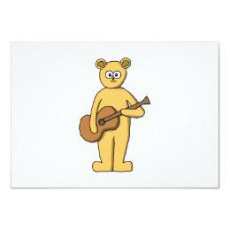 Guitar Playing Bear. Card