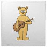 Guitar Playing Bear. Napkins