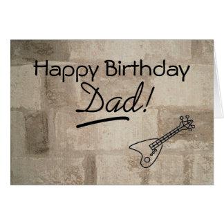 Guitar Playing Dad Birthday Card