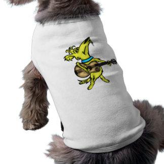 Guitar Playing Dog Pet Tee Shirt