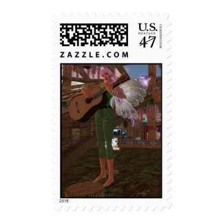 Guitar Playing Fairy Postage
