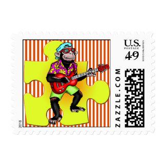 Guitar Playing Monkey Postage