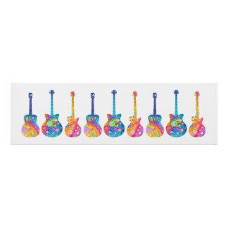 GUITAR POP ART  Colorful Rock Guitars in a colorfu