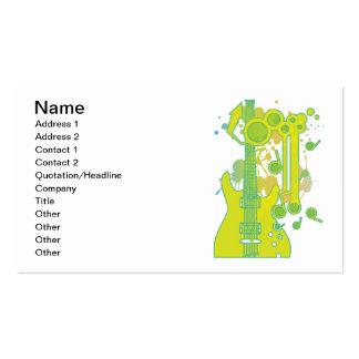 GUITAR-POP TUNES BUSINESS CARD
