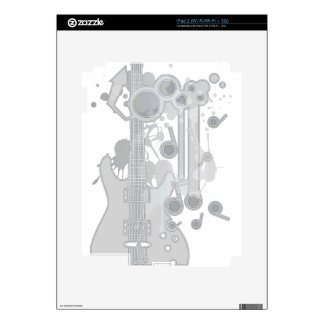 GUITAR-POP TUNES DECALS FOR THE iPad 2
