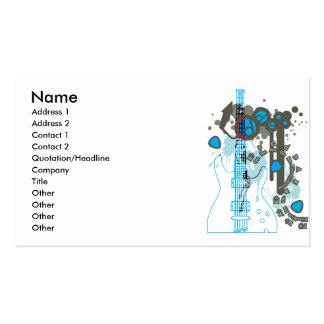 GUITAR-POP TUNES Double-Sided STANDARD BUSINESS CARDS (Pack OF 100)