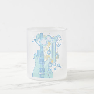 GUITAR-POP TUNES FROSTED GLASS COFFEE MUG