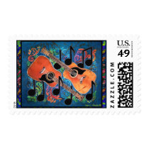 GUITAR Postage Stamps