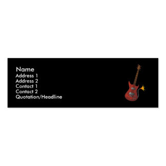 Guitar Profile Card Double-Sided Mini Business Cards (Pack Of 20)