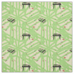 Guitar Radio Pattern Choose Background Color F Fabric