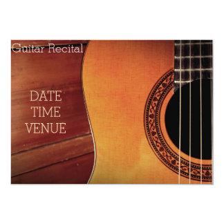 Guitar Recital elegant stylish performance Card