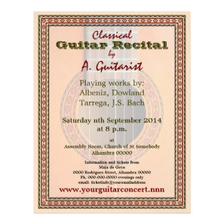Guitar recital or concert flyer