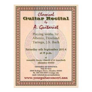 Guitar recital or concert flyer
