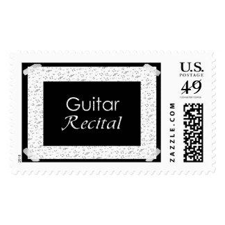 Guitar Recital Postage Stamps
