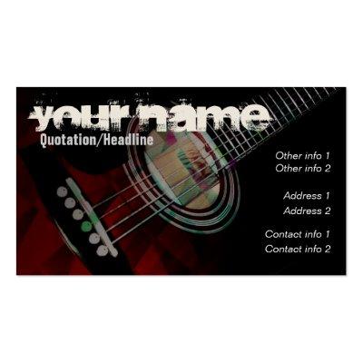 """GUITAR """"Redtrax"""" Business card V2.0"""