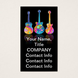 GUITAR REFLECTIONS Customizable BUSINESS CARDS