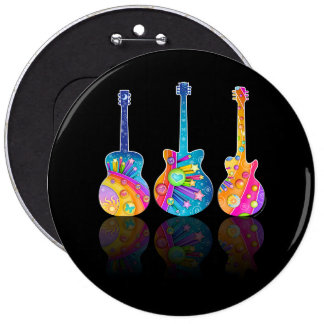 GUITAR REFLECTIONS Personalizable BUTTONS