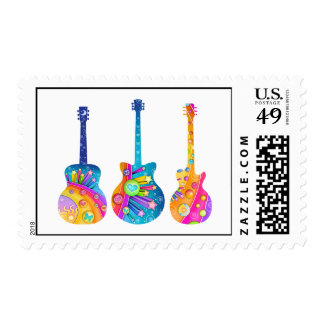 Guitar Reflections Postage Stamp