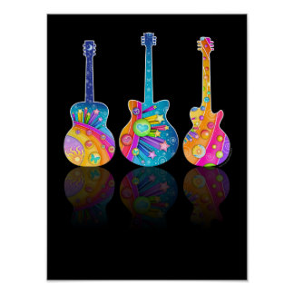 GUITAR REFLECTIONS POSTER