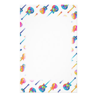 Guitar Reflections Stationery