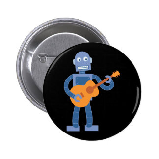 Guitar Robot Pinback Button