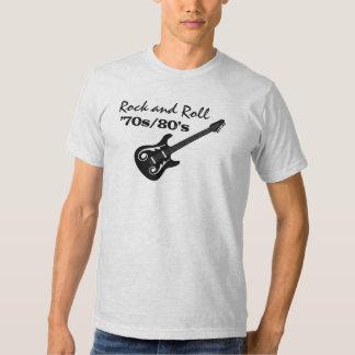 Guitar Rock and Roll 70s  80s or Custom Year Era Shirt