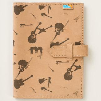 Guitar Rock Monogram Leather Travel Journal