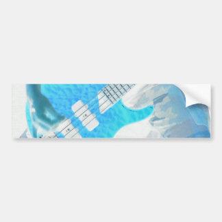 Guitar Rock motif Bumper Sticker