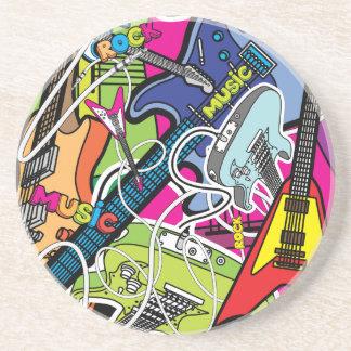 Guitar Rock Music Star Grunge Grafitti Coasters