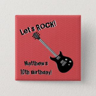 Guitar Rock Star Button