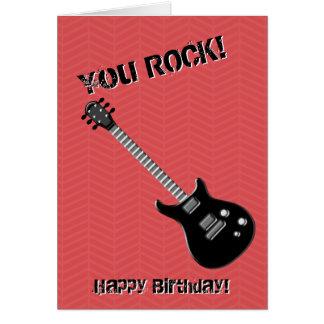 Guitar Rock Star Card