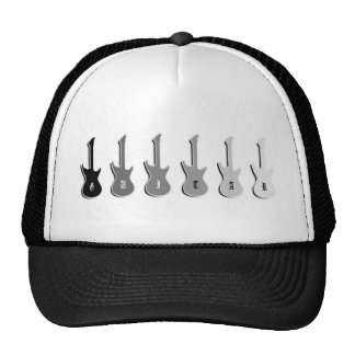 Guitar Rock With Six Guitar Silhouettes Trucker Hat
