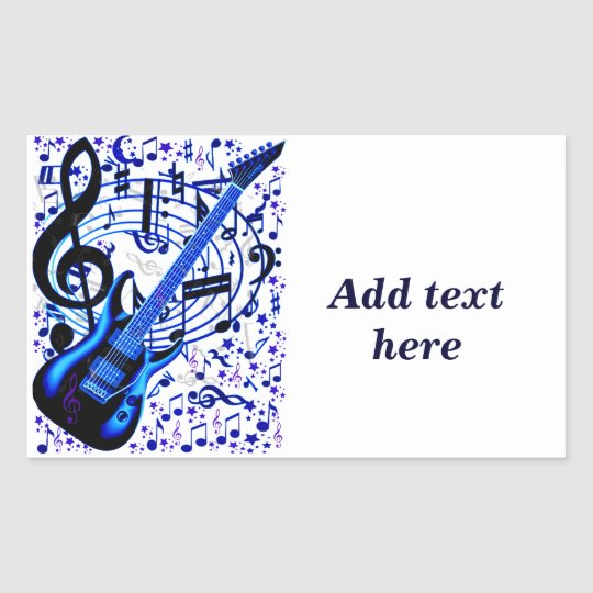 Guitar rocker_ rectangular sticker